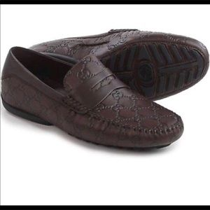 Gucci signature Driver loafers-Guccissima leather